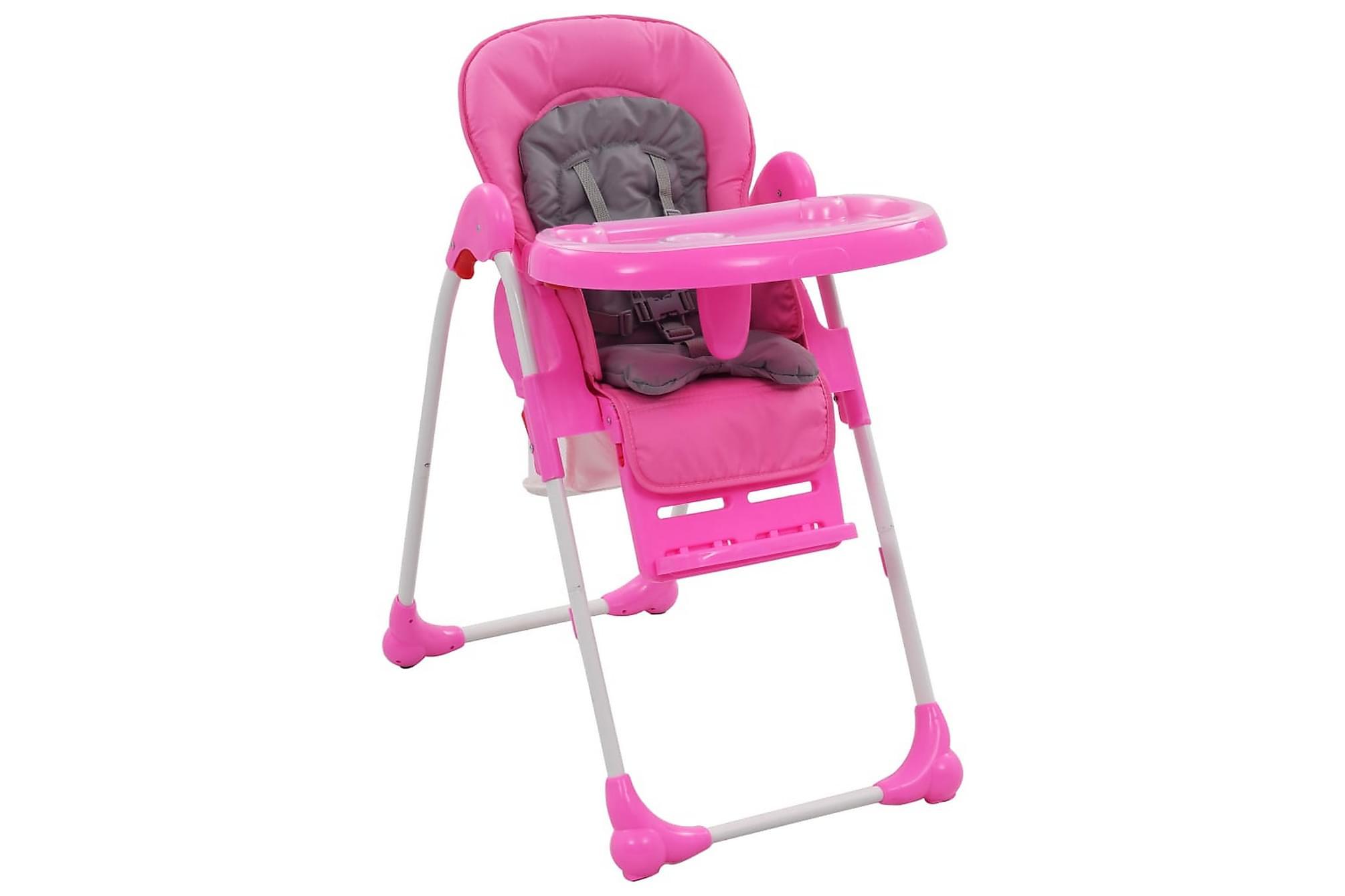 Barnstol rosa och grå