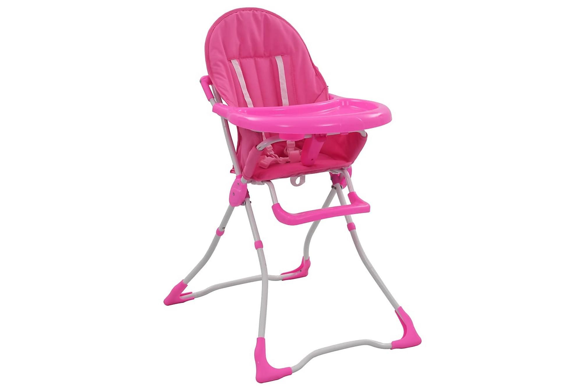 Barnstol rosa och vit