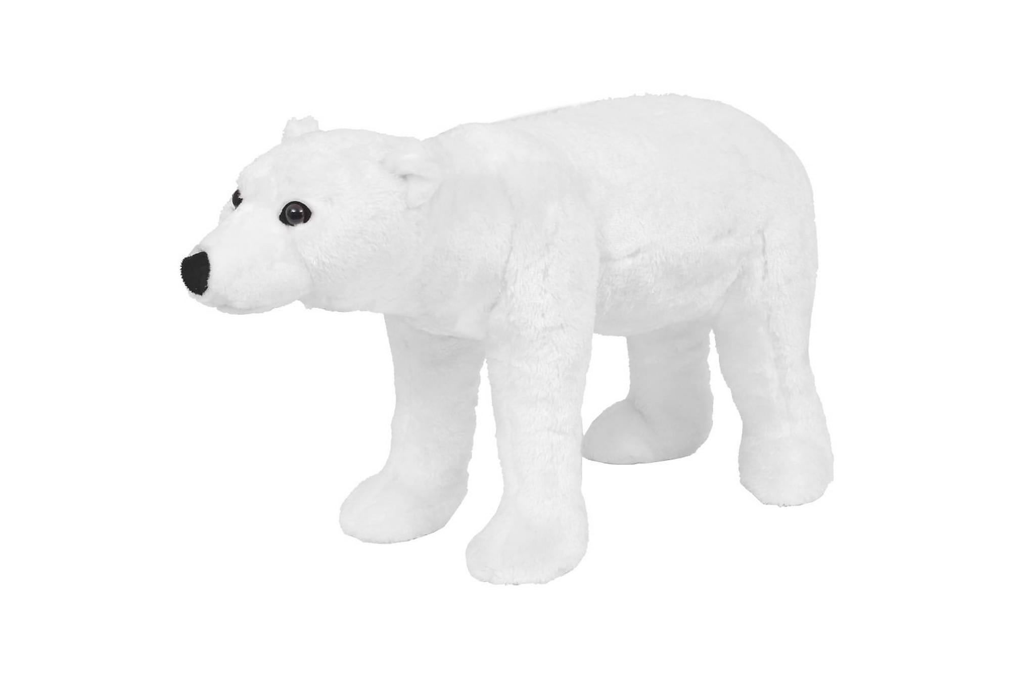 Stående leksaksisbjörn plysch vit XXL