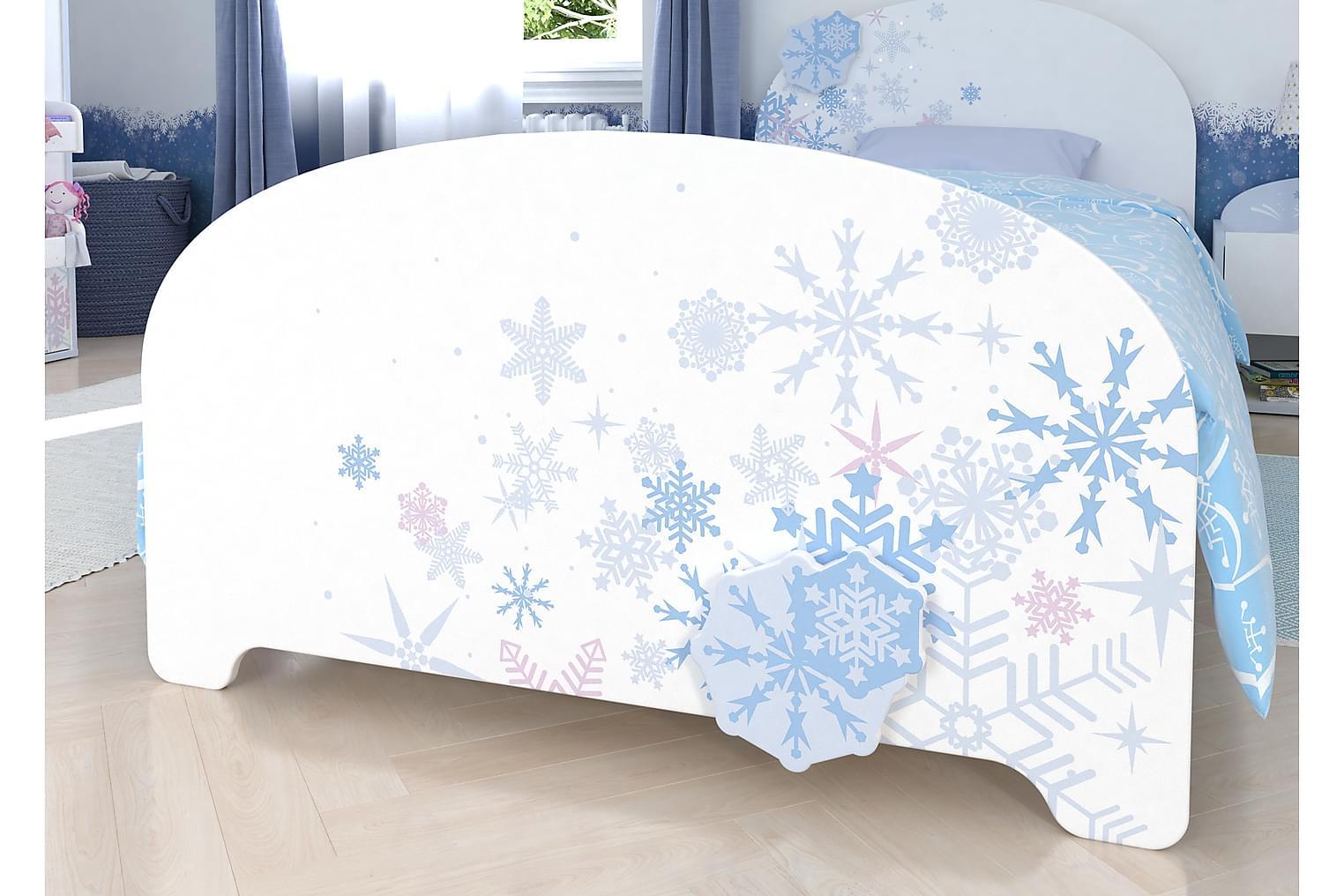 MIRAL Sängstomme 90x200 Vit/mönstrad -