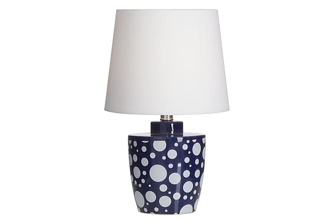 RIKKE Bordslampa Vit/Blå - Möbler & Inredning - Belysning - Bordslampor