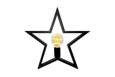 STJÄRNA Bordslampa Stjärna Trä/Svart