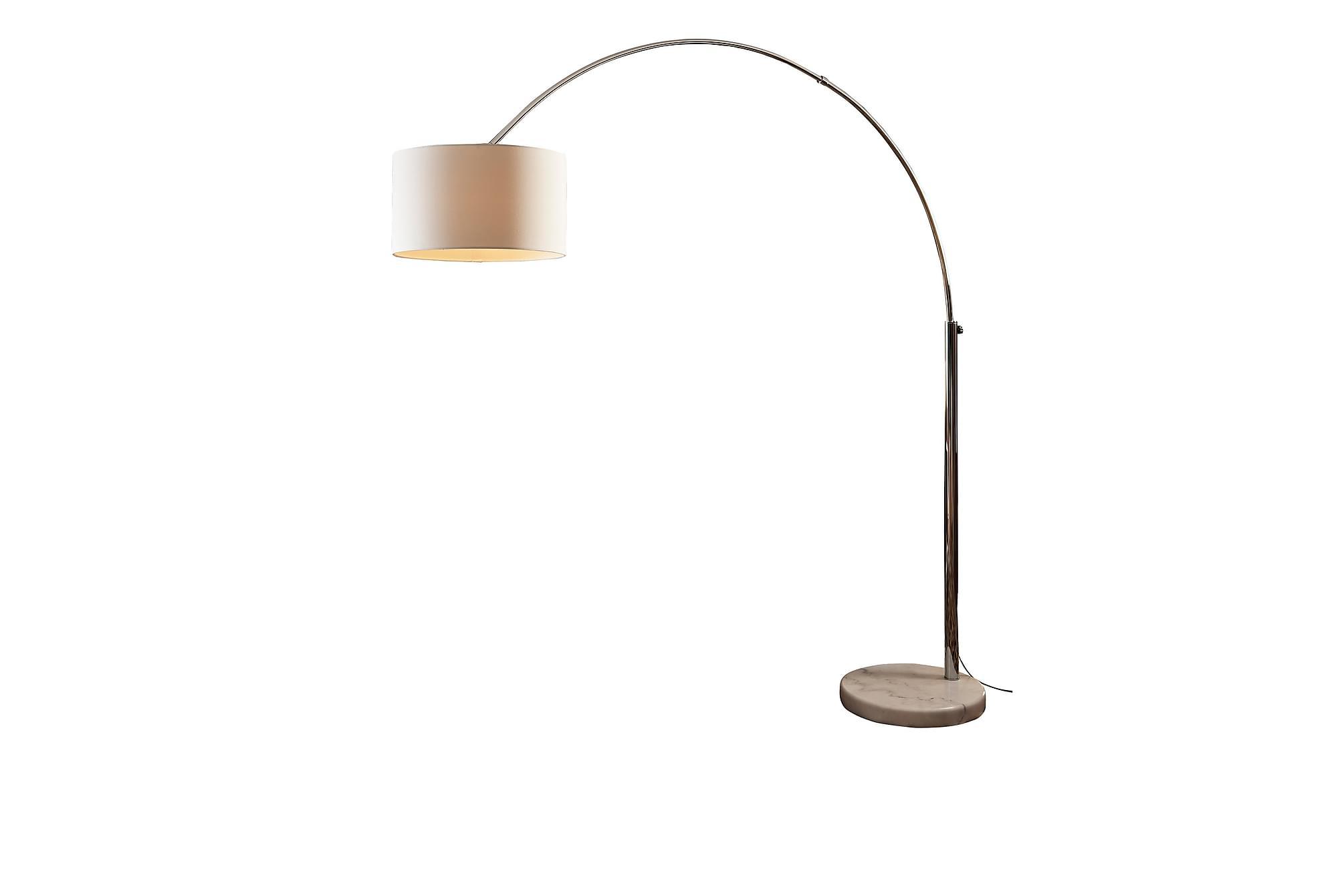 Båglampa 210 cm white, Golvlampor