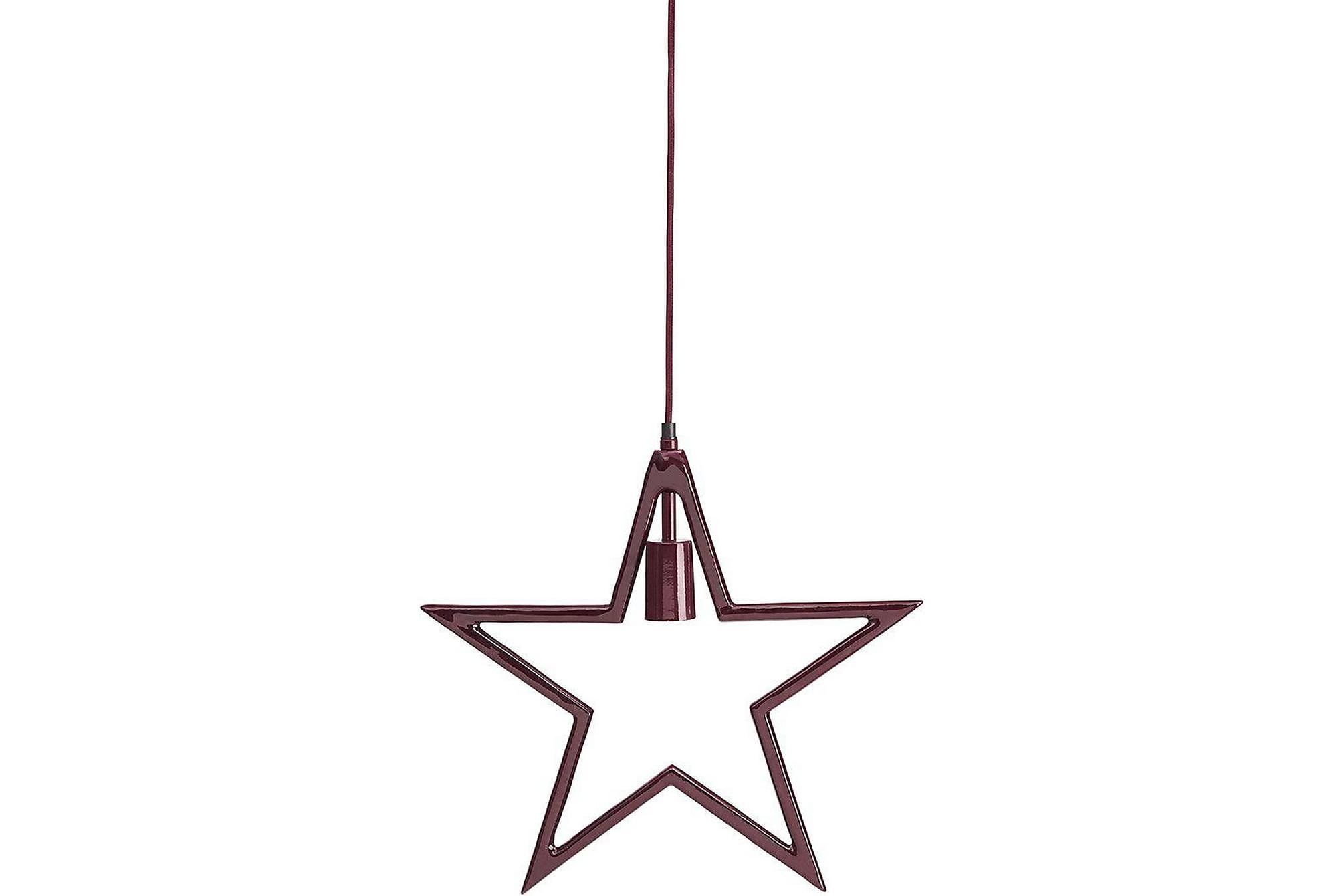 Carla hanging star Vinröd, Julbelysning