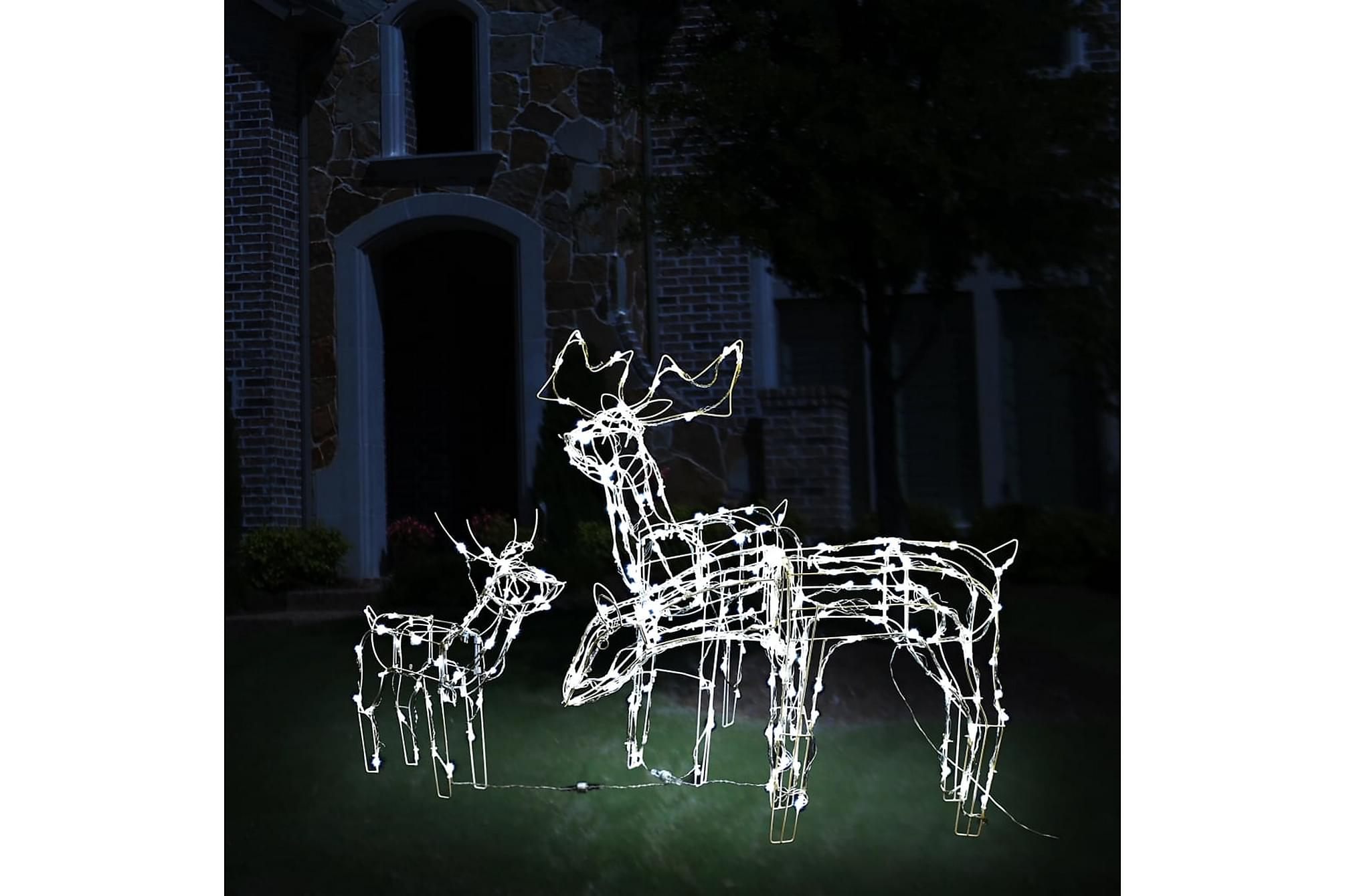 Julbelysning med renar 3 delar 229 LED