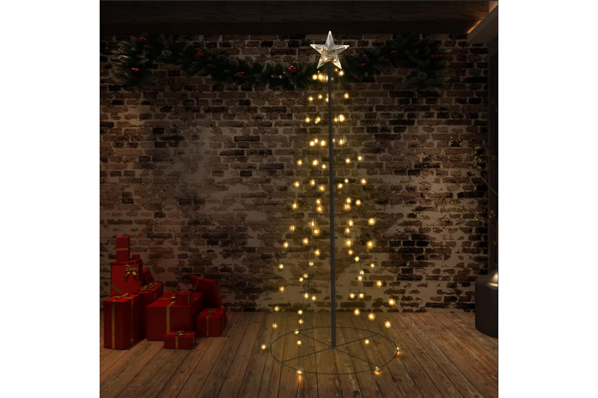 Ljuskon för julgran 96 LED inne/ute 72×180 cm