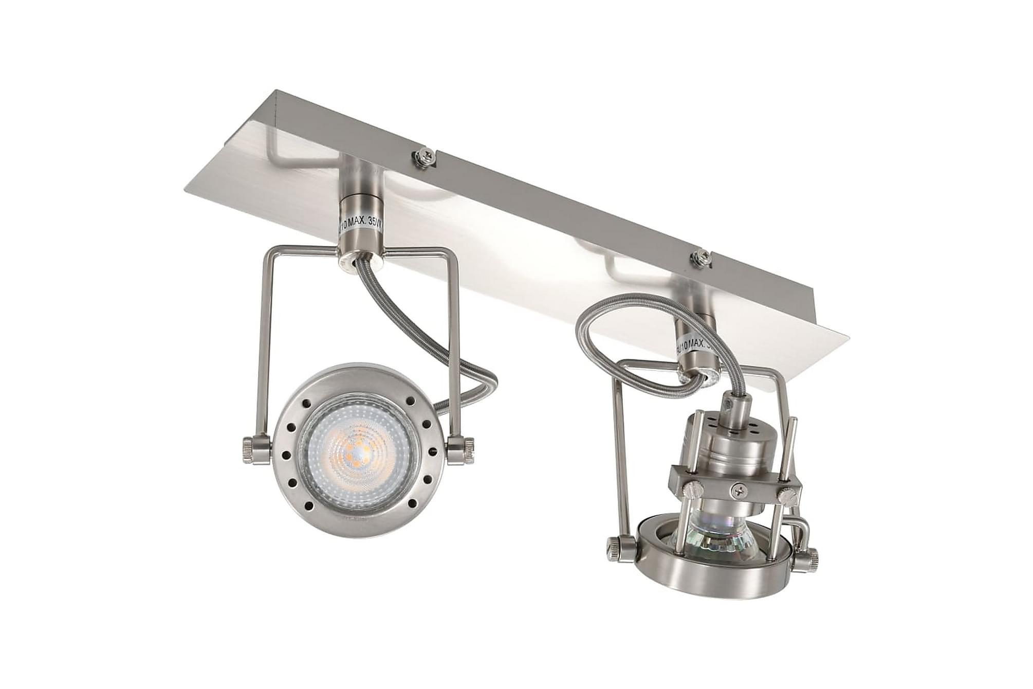 2-vägs spotlight silver GU10, Taklampor