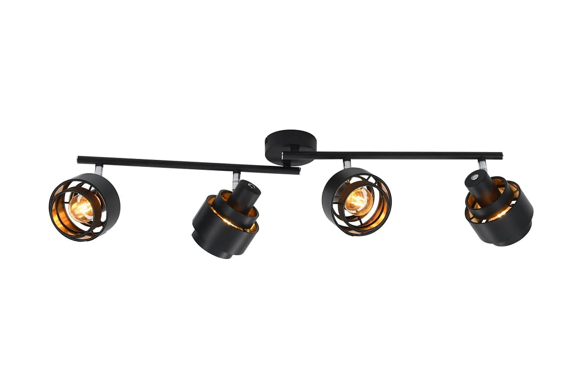 4-vägs spotlight svart E14, Taklampor