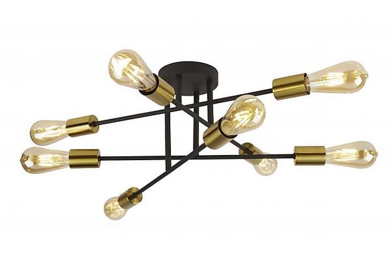 ARMSTRONG Taklampa 54 Dimbar 8 Lampor Mässing/Svart - Searchlight - Möbler & Inredning - Belysning - Taklampor