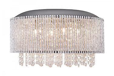 AVENUE Taklampa 81 Hängande 6 Lampor Kristall K9/Krom