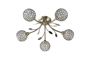 BELLIS Plafond 54 Dimbar 5 Lampor Antikmässing