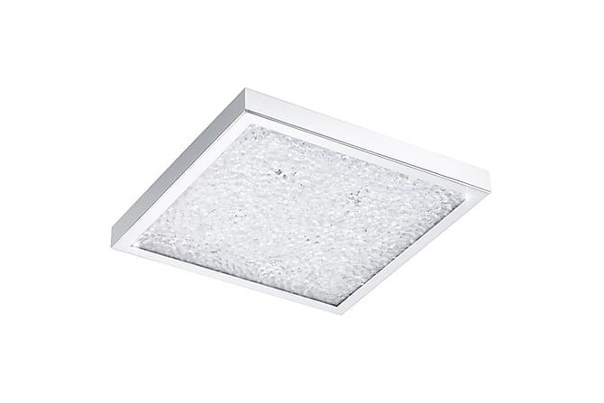 CARDITO Plafond LED 32x32 cm Krom/Klar/Glas - Inomhus - Belysning - Taklampor