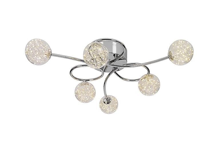 GALAXY Plafond 75 LED 6 Lampor Krom/Klarglas - Cottex - Möbler & Inredning - Belysning - Taklampor