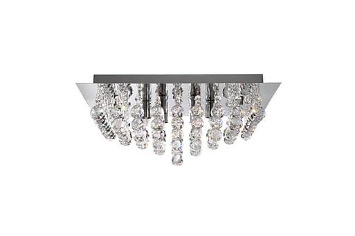 HANNA Kristallkrona 55 Kvadrat Dimbar 8 Lampor Krom/Blank, Taklampor thumbnail