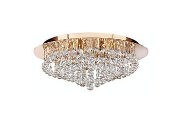 HANNA Plafond 55 Rund Dimbar 8 Lampor Mässing