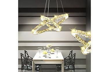 MAIOLO Taklampa LED 23,6 W Kristaller Silver
