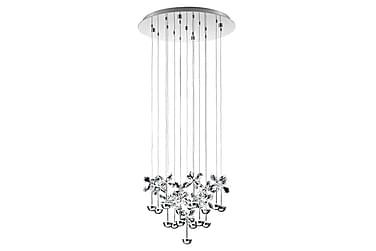 PIANOPOLI Taklampa LED 50 cm Krom/Kristall