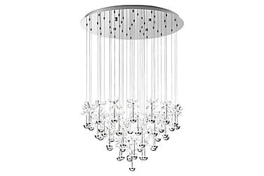 PIANOPOLI Taklampa LED 78 cm Krom/Kristall
