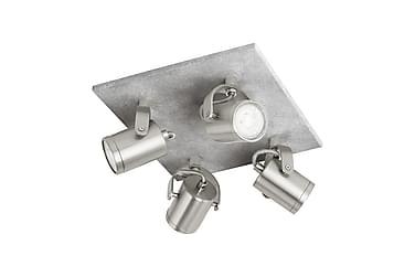 PRACETA Plafond LED 4L Betongoptik/Nickel