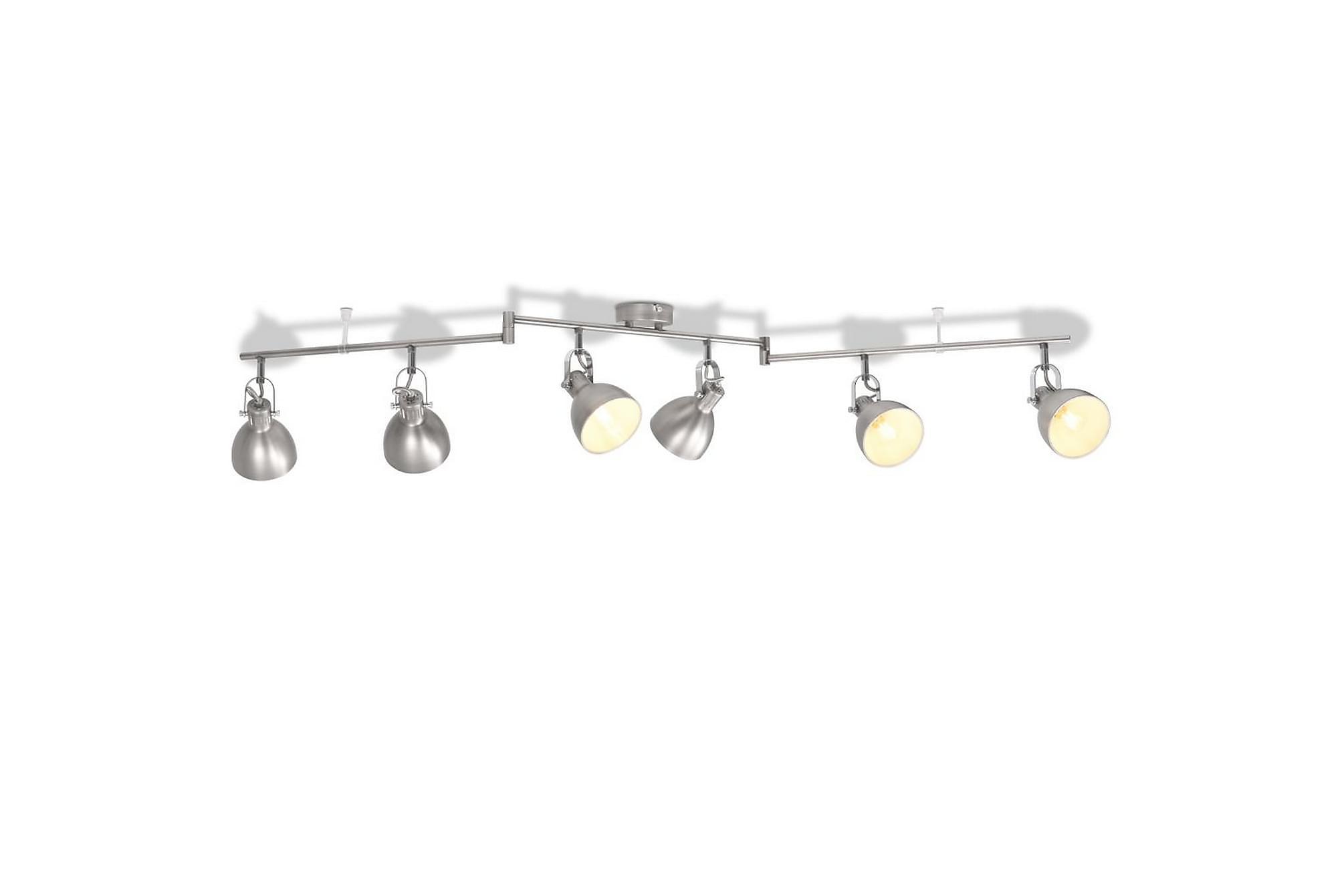 Taklampa för 6 glödlampor E14 grå, Taklampor
