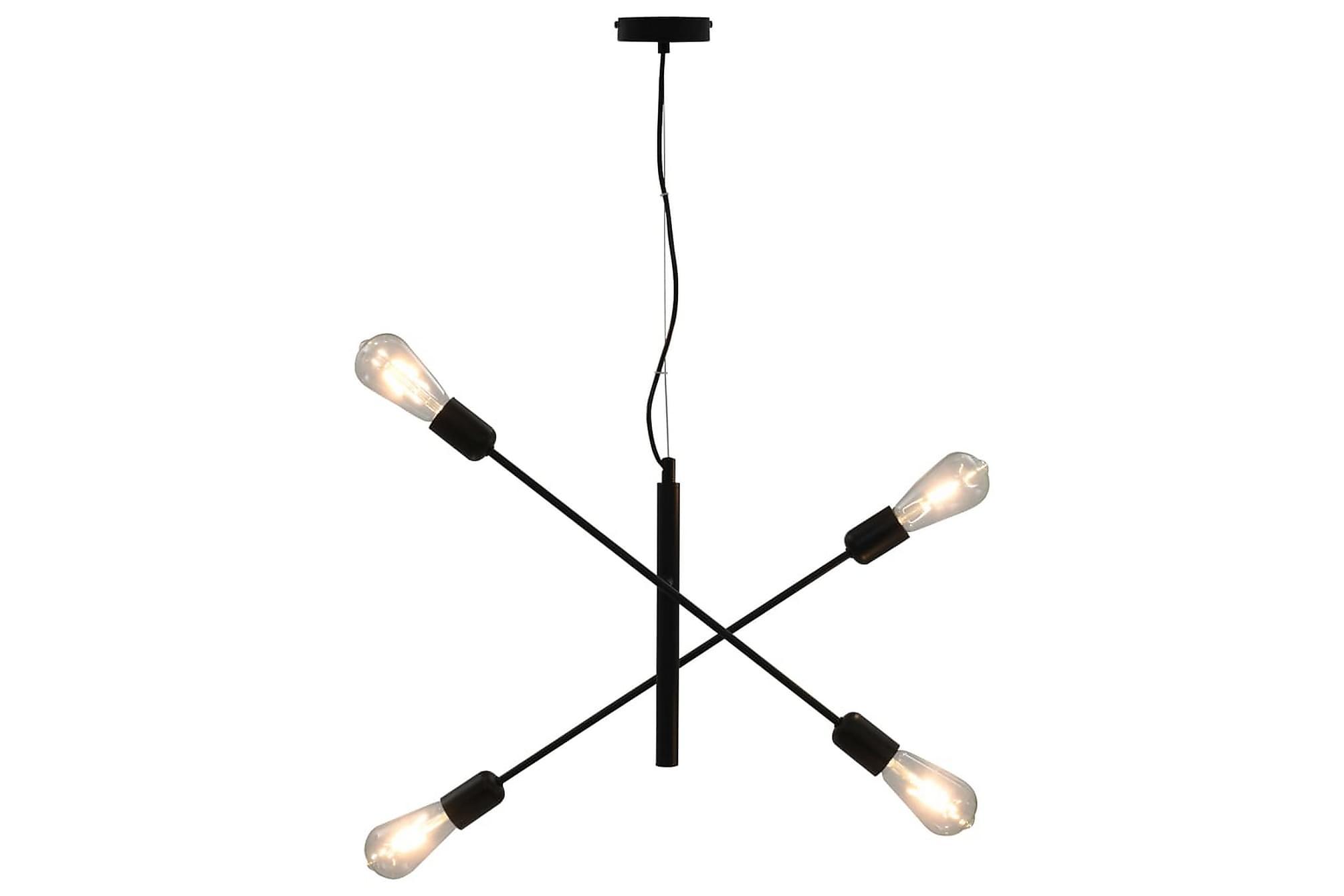 Taklampa med glödlampor 2 W svart E27, Taklampor