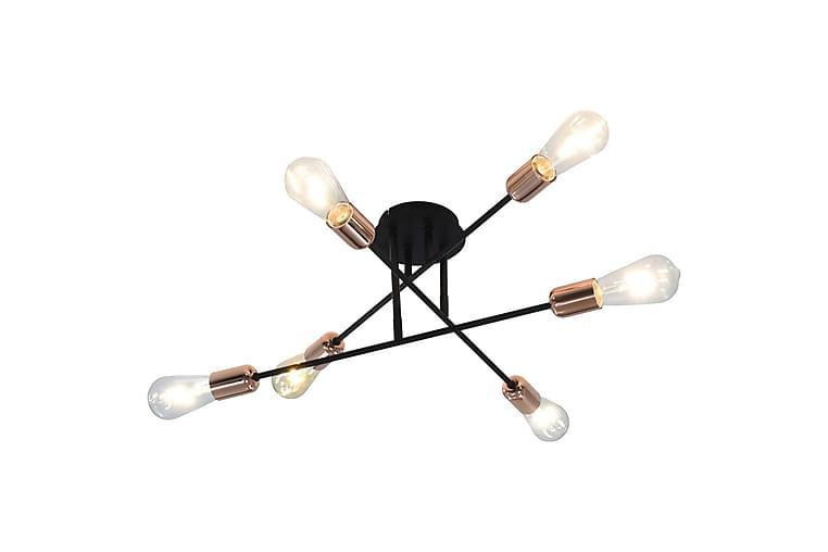 Taklampa med glödlampor 2 W svart och koppar E27 - Svart - Möbler & Inredning - Belysning - Taklampor