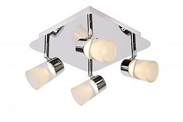 XANTO Badrumsbelysning 24 LED 4 Lampor Krom/Blank