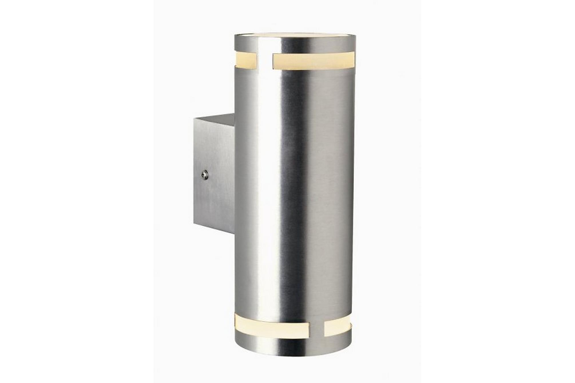CAN Fasadbelysning 8 Rund Maxi Upp/Nedljus Aluminium, Utomhusbelysning