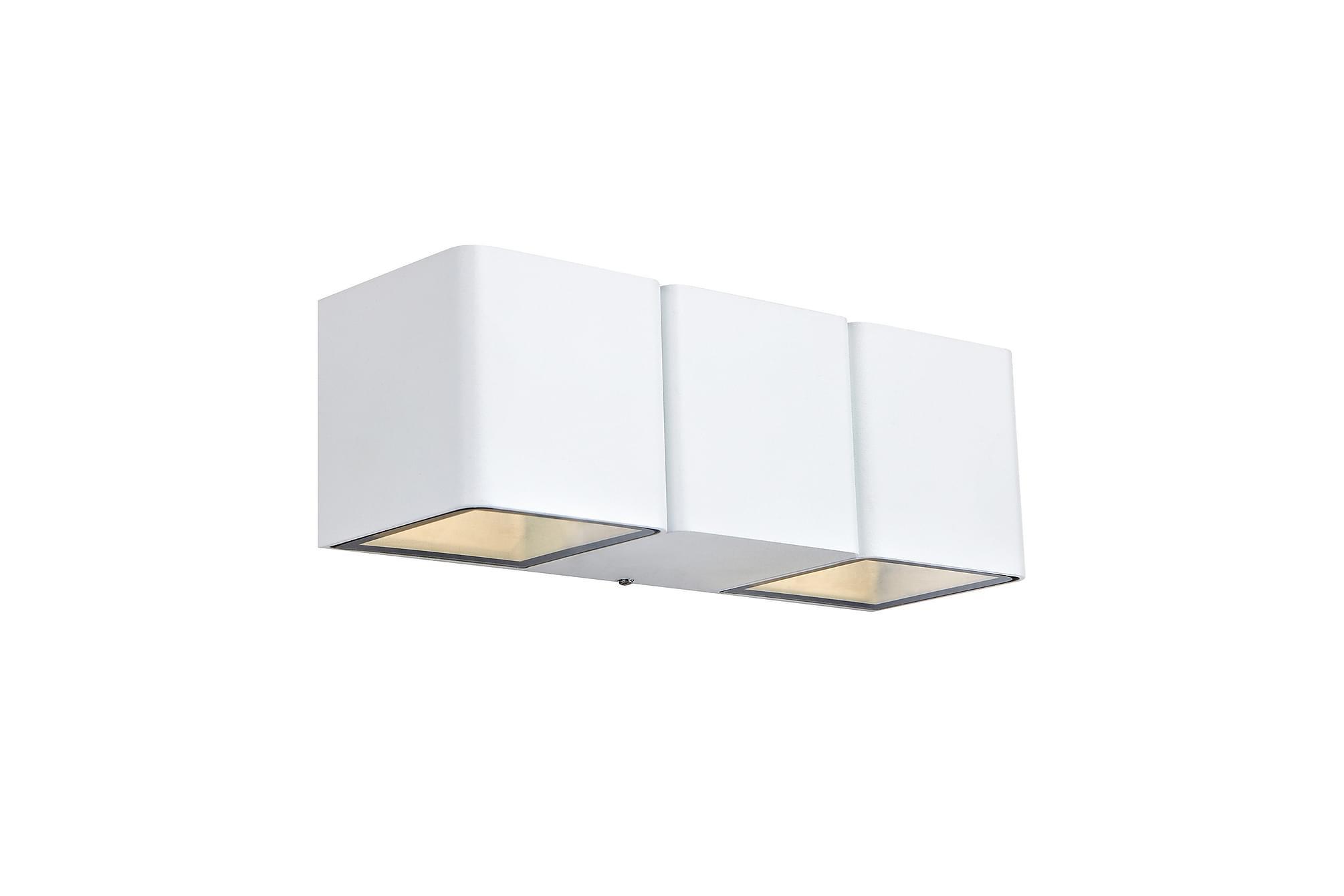 CETO Vägglampa 2L Vit, Utomhusbelysning