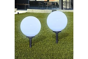 Drewes Markbelysning LED solpanel 30 cm 2-pack med Markspik