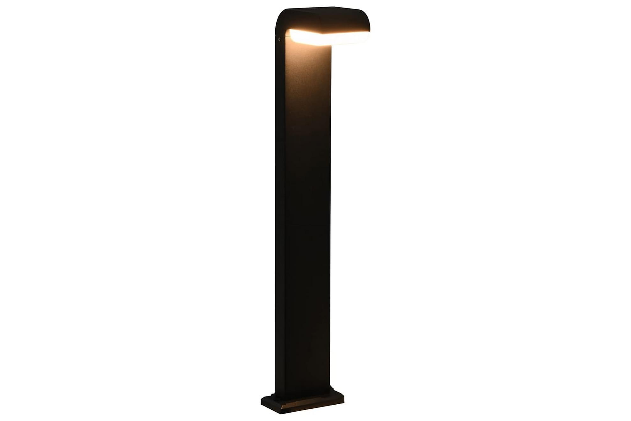 LED-utomhuslampa 9 W svart oval