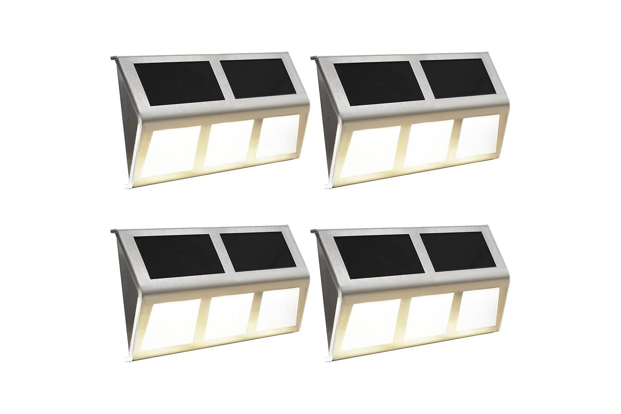 Solcellslampor 4 st LED varmvit