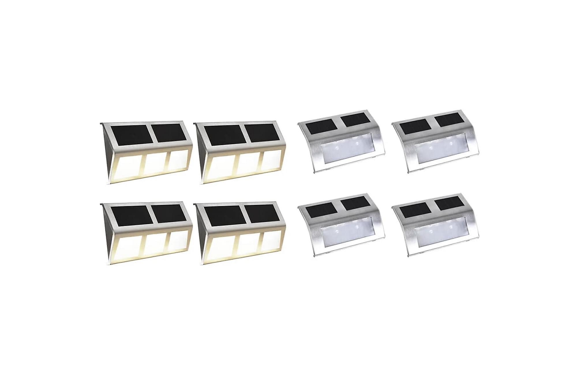 Solcellslampor 8 st LED-lampa