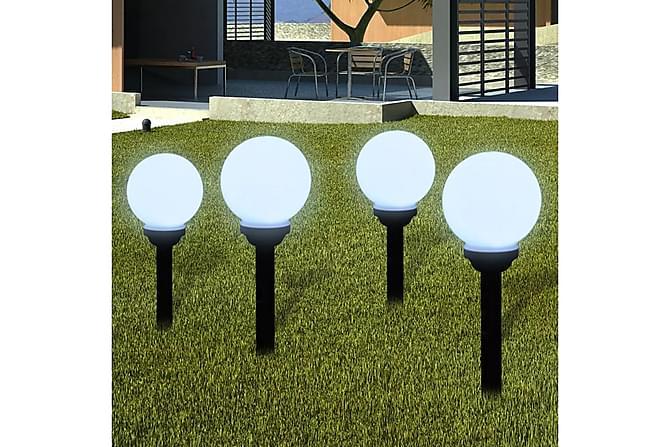 Utelampa LED solpanel 15 cm 4 st med markspikar - Svart|Vit - Möbler & Inredning - Belysning - Utomhusbelysning