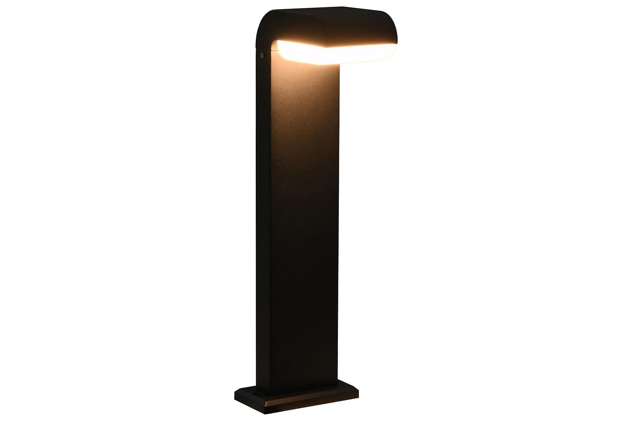 Utomhuslampa med LED 9 W svart oval
