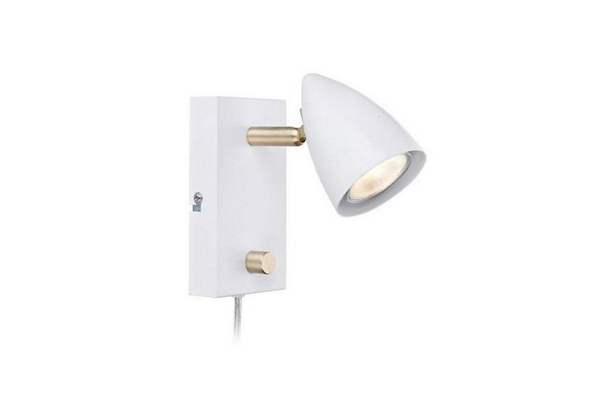 CIRO Vägglampa Vit/Mässing