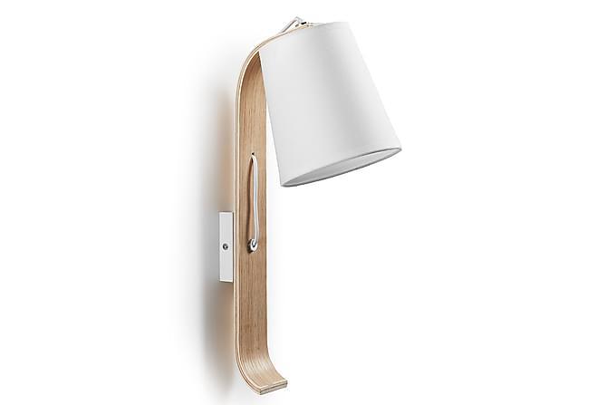 HEDDINGE Vägglampa Vit/Natur - Möbler & Inredning - Belysning - Vägglampor