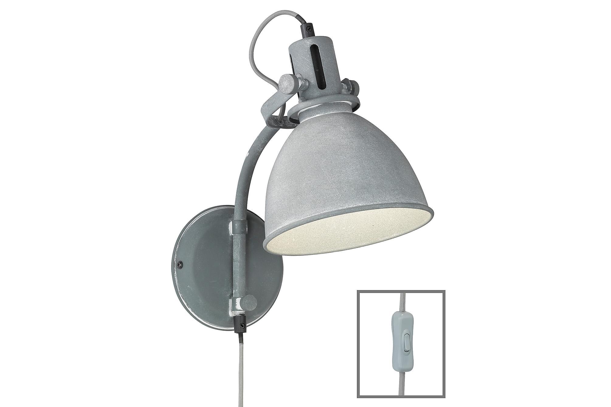 NORA Vägglampa Grå