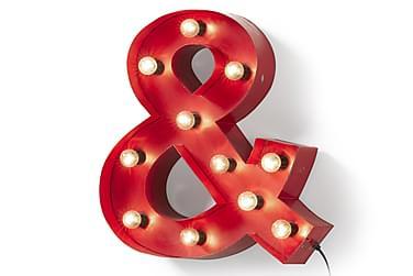 SUZANN Väggdekoration &-symbol 60/10 cm Röd