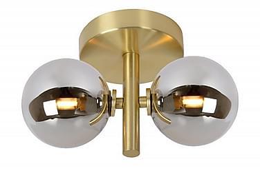 TYCHO Vägglampa 15 Dimbar 2 Lampor Mässing