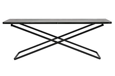 CROWE Sidobord XL 125 Svart/Metall