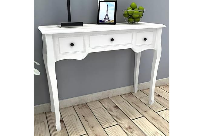 Konsolbord med tre lådor vit - Vit - Möbler & Inredning - Bord - Avlastningsbord