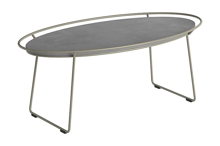 SPASSO ELLITTICO Avlastningsbord Beige/Vit - Homemania - Möbler & Inredning - Bord - Avlastningsbord