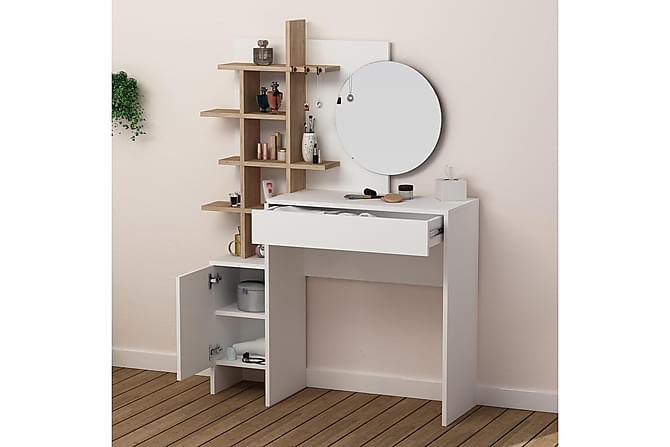VALERY Sminkbord Vit/Ek - Vit/Ek - Möbler & Inredning - Bord - Avlastningsbord