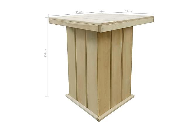 Barbord 75x75x110 cm impregnerad furu - Beige - Möbler & Inredning - Bord - Barbord