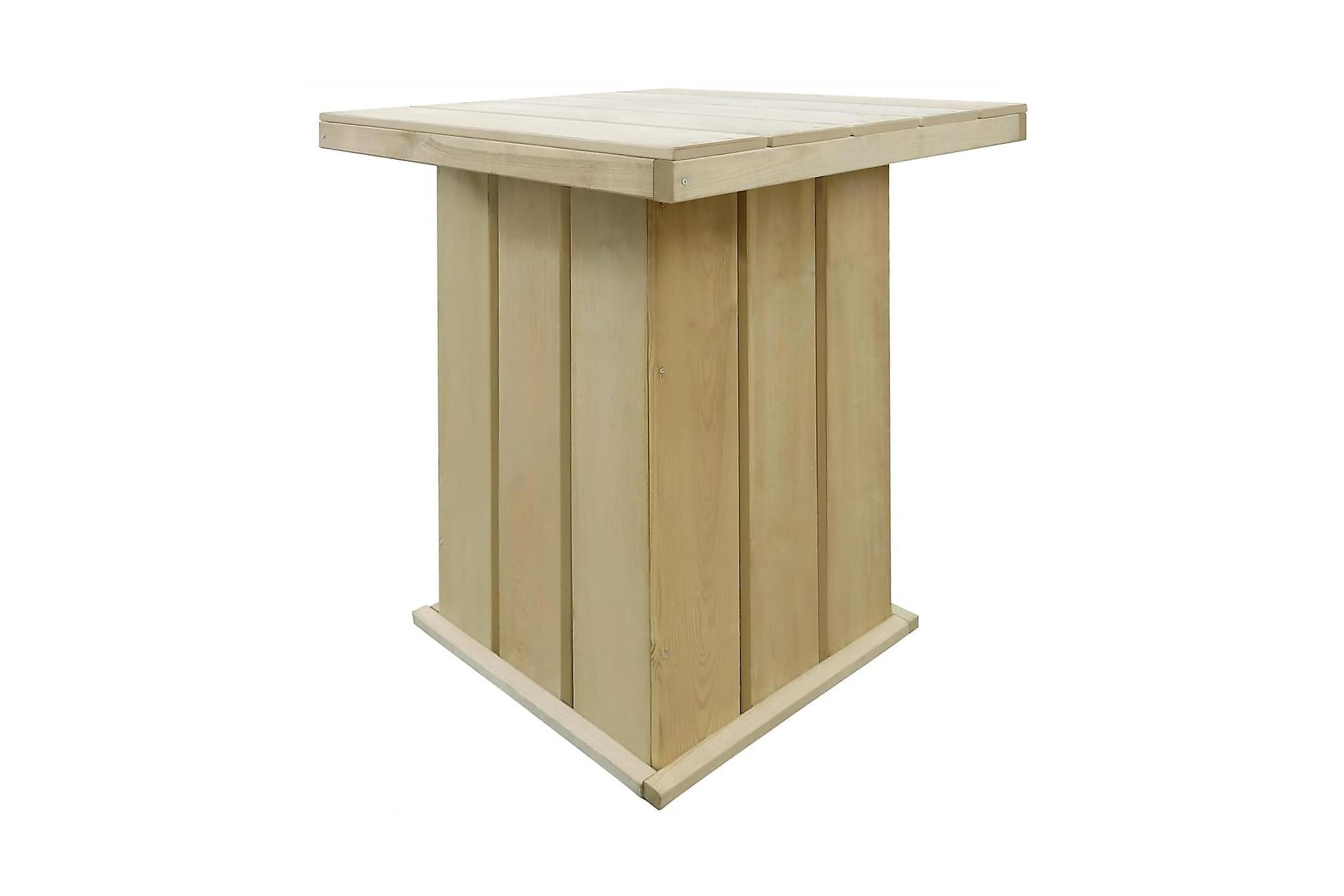 Barbord för trädgården FSC impregnerad furu 75x75x110 cm