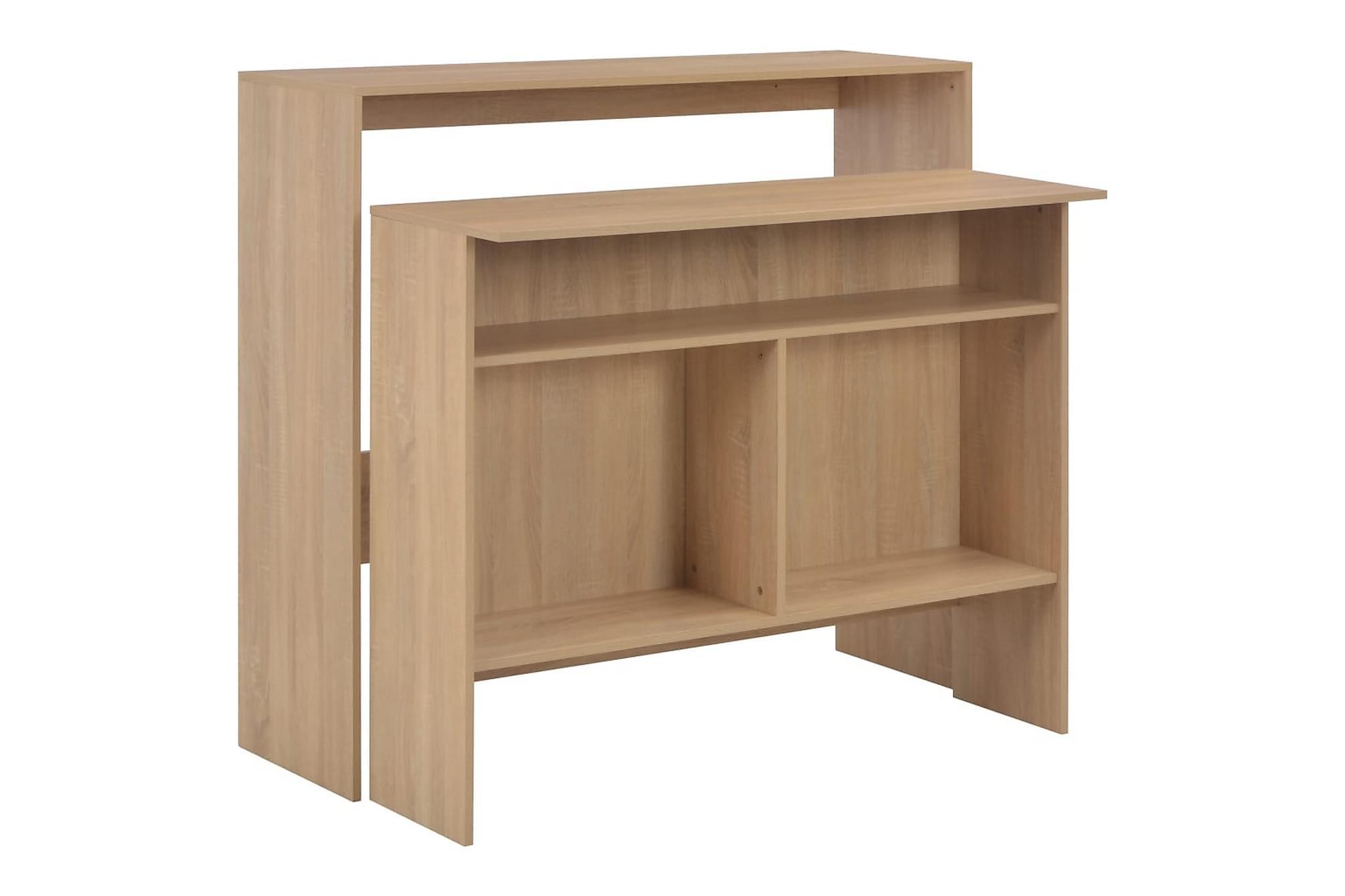 Barbord med 2 bordsskivor ek 130x40x120 cm