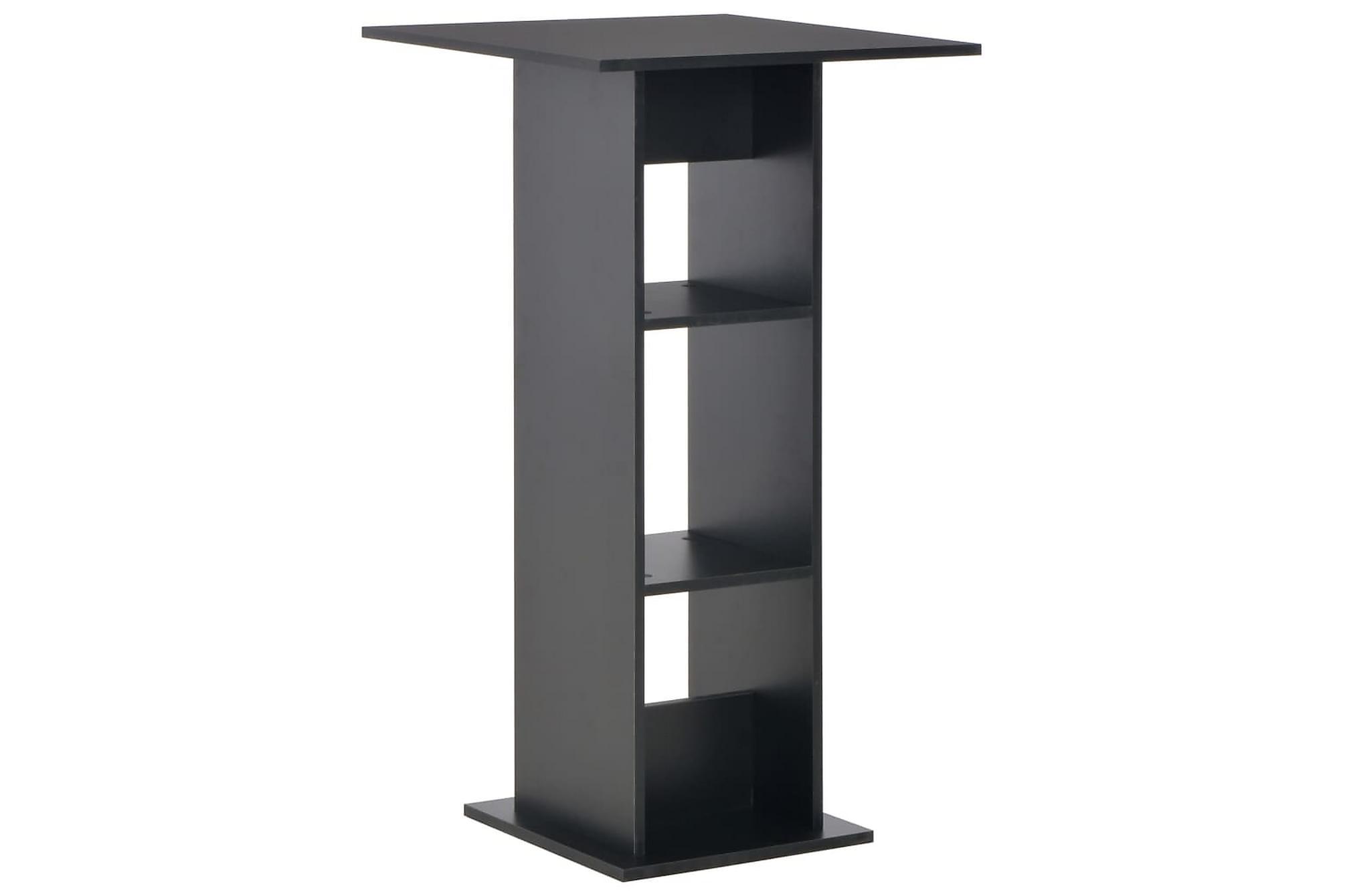 Barbord svart 60x60x110 cm