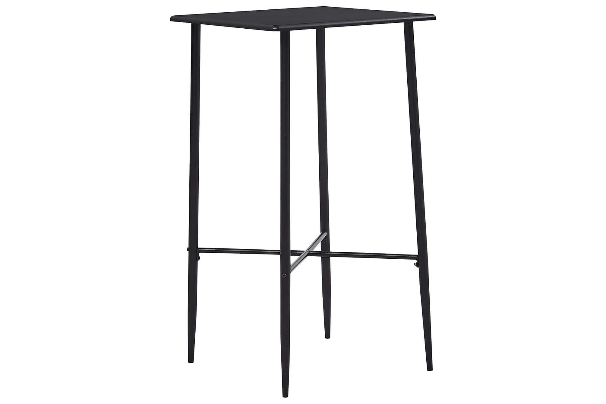Barbord svart 60x60x111 cm MDF