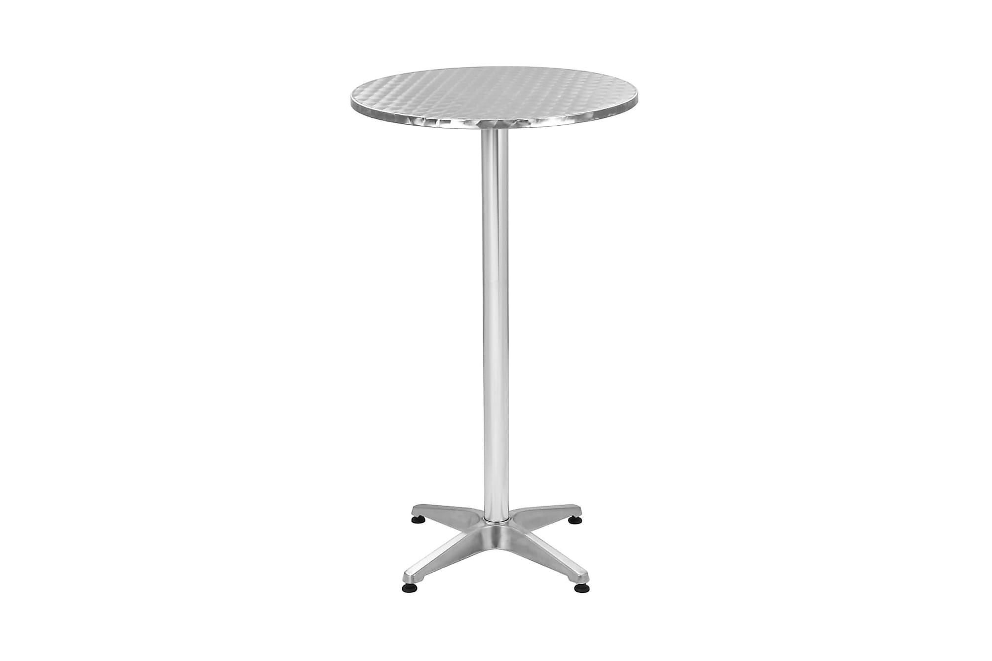 Hopfällbart trädgårdsbord i aluminium Ø 60 cm